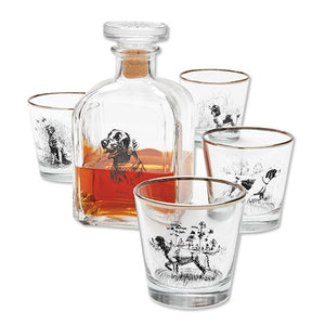 Sporting Dogs Decanter Set