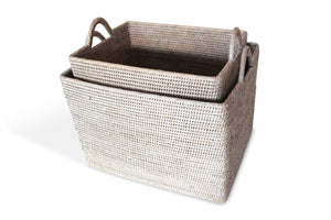Rectangular Storage Basket with Loop Handle (small)