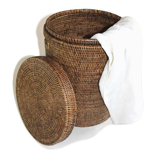 Round Laundry Hamper with lid