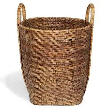 Round Laundry Basket with Loop Handle