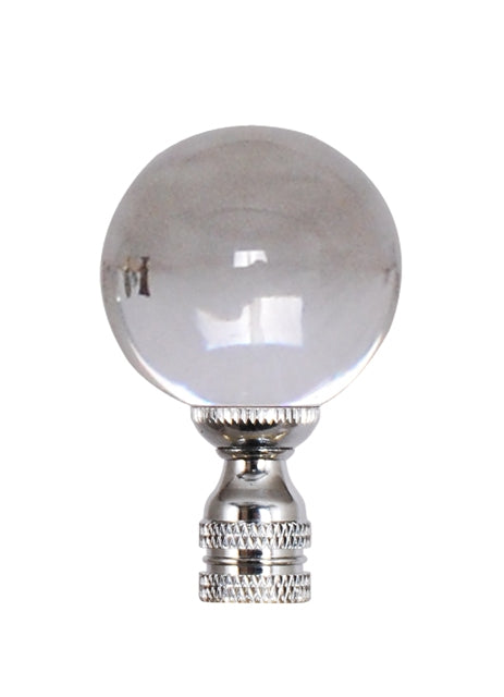Crystal Ball finial, Silver