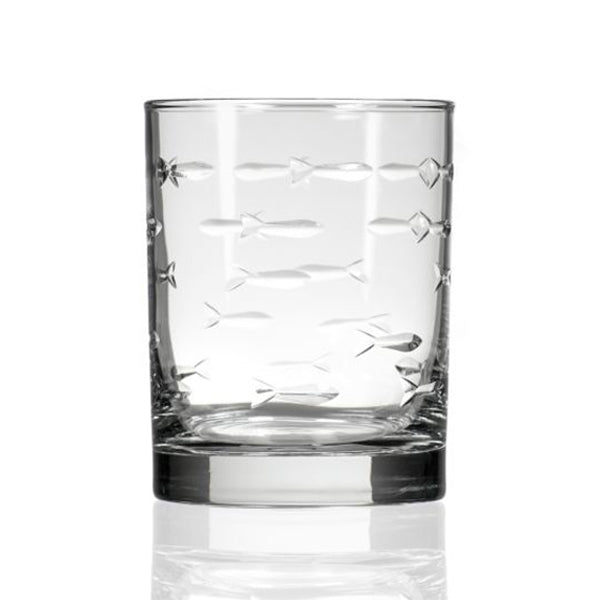 Double Old-Fashioned Glass, School of Fish