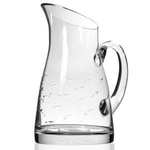 Glass Pitcher, School of Fish