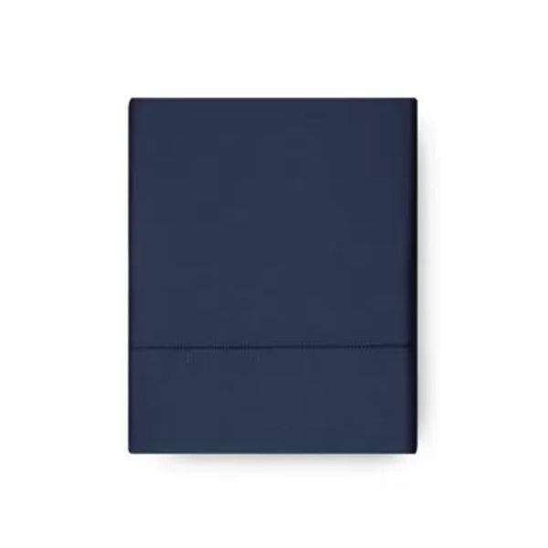 Suave Satin Stitch Flat Sheet, Midnight Blue