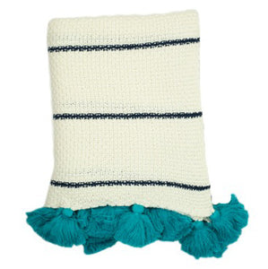 Dazzel Knit Throw - bondi blue