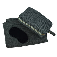 Load image into Gallery viewer, Travel Blanket Set - Black Grain