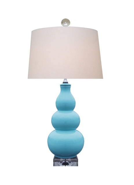 Triple Gourd Turquoise lamp