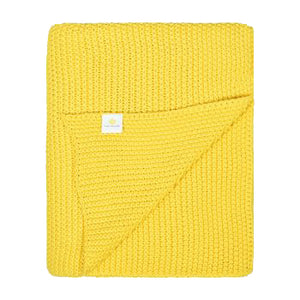 Varna Knit Throw - Yellow