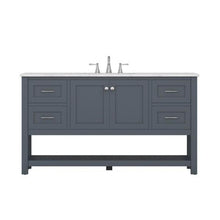 "Load image into Gallery viewer, Wilmington 60"" Double Vanity, Grey"