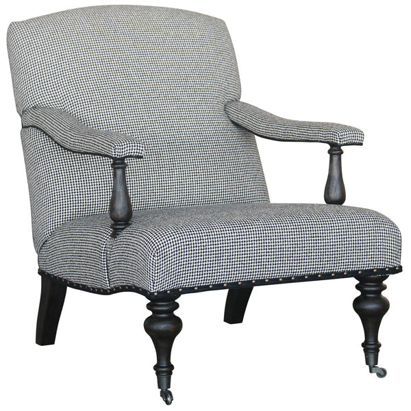 Winslow Houndstooth Club Chair
