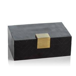 Black Inlaid Decorative Box
