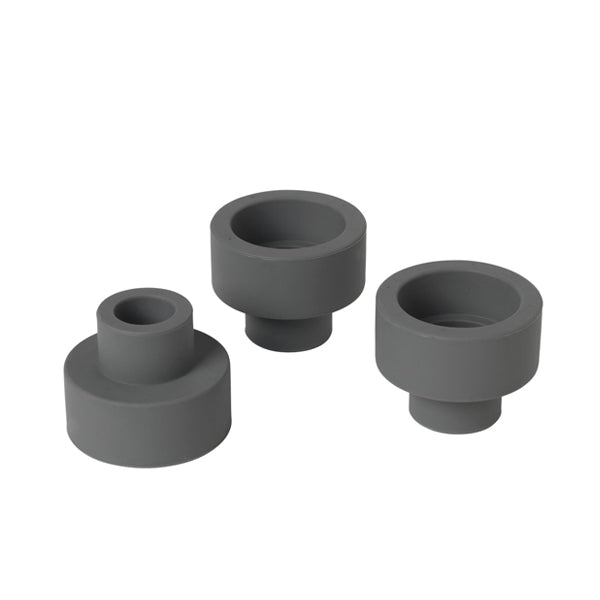 Trio Tea Light & Taper Candle Holder - Gunmetal
