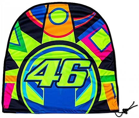 VR46 Sun and Moon Waterproof Helmet Holder, Multi-Colour