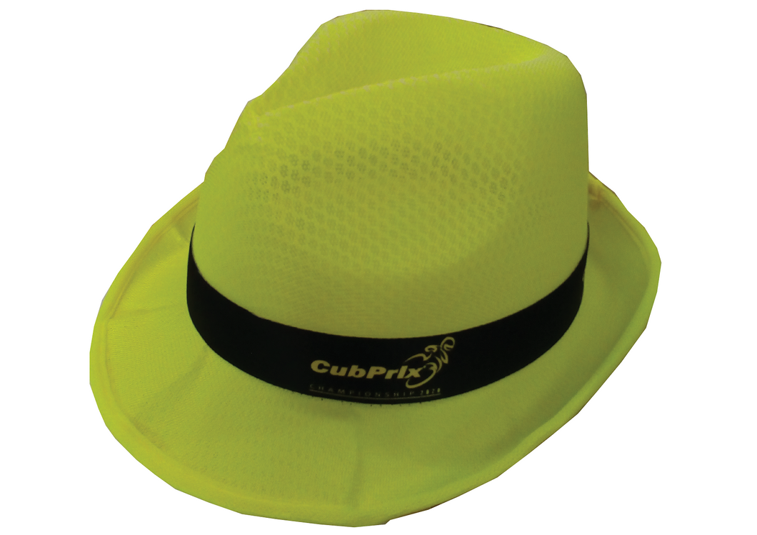 Fedora Racing Hats Cubprix Championship 2020 Fluo Yellow Color