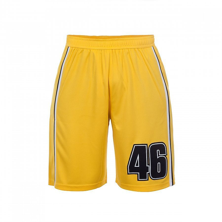 VR46 Official Valentino Rossi Yellow Bermuda Shorts