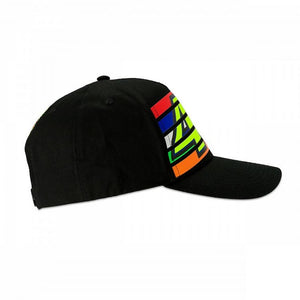 46 STRIPES CAP BLACK