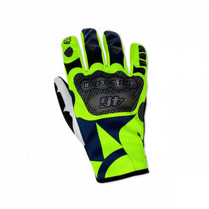 SUN AND MOON REPLICA GLOVES VR46 BLUE YELLOW