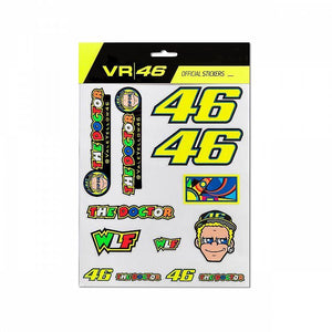 Valentino Rossi Multicolor Classic - Large Sticker Pack (Default, Yellow)