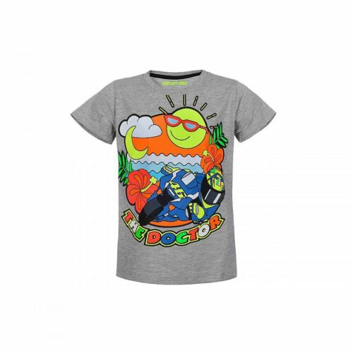 VR46 Official Valentino Rossi Kids Grey T'Shirt