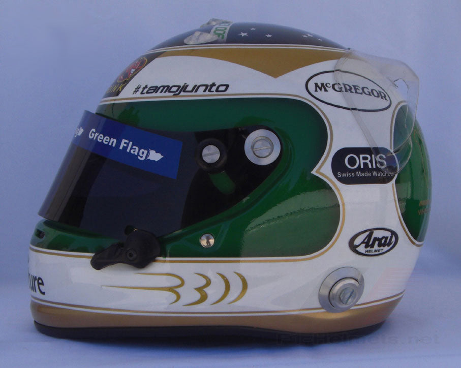Rubens Barrichello 2010 300 GP SPA Replica Helmet