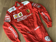Load image into Gallery viewer, Charles Leclerc 2019 Ferrari 90 YEARS Replica Racing Suit