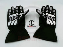 Load image into Gallery viewer, Lewis Hamilton 2020 Black Replica Racing Gloves