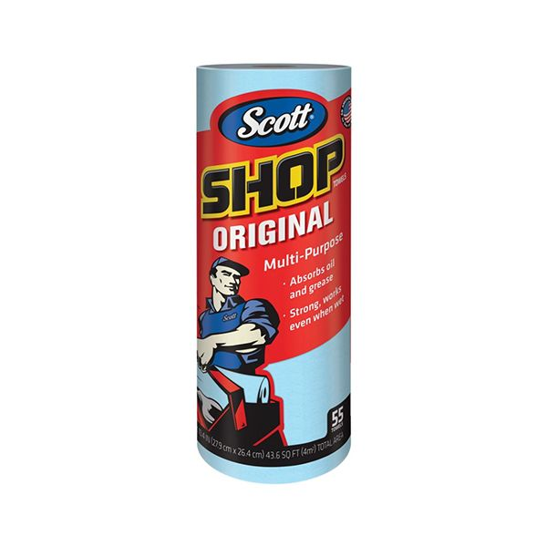 Towel / roll scott shop towels blue kimberly-clark- papel toalla multiusos scott