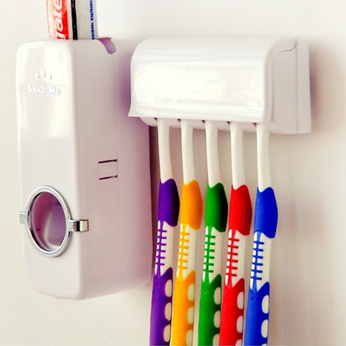 3 SETS TOOTHBRUSH AND TOOTHPASTE DISPENSER