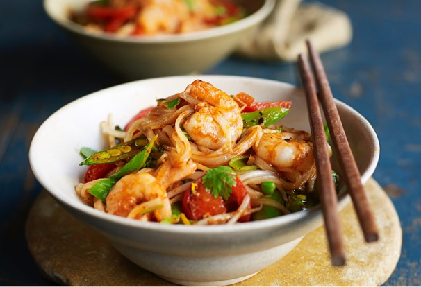 Thai prawn & ginger noodles