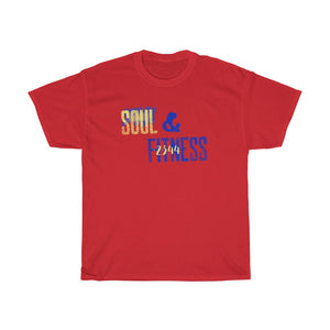 Unisex Heavy Cotton Tee - 2344 Soul & Fitness blue