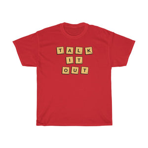 Unisex Heavy Cotton Tee - Talk it out