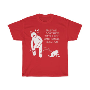 Unisex Heavy Cotton Tee - Trust me! I don't hate cats