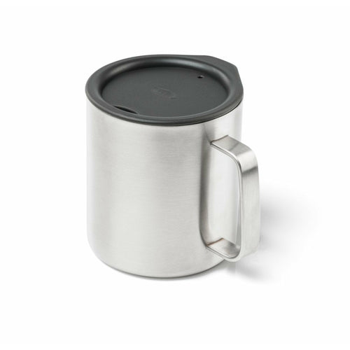 GSI Glacier Camp Cup 15Oz - Brushed Steel - The Trip Shed