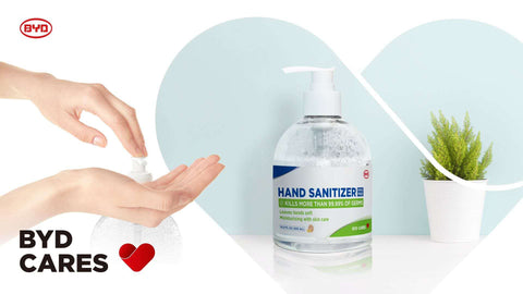 BYD Care Hand Sanitizer CE FDA 500ml *6 Bottles