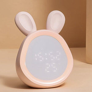 Cute Rabbit Night Lamp Desk Clock