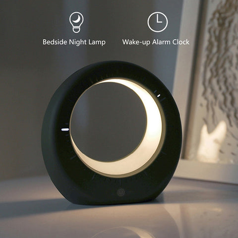 Moon Night Light Alarm Clock