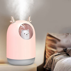 Silent Ultrasonic Air Humidifier Night Lamp