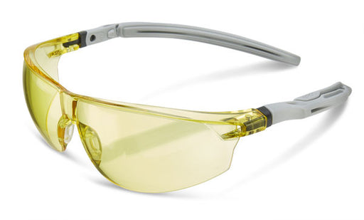 Yellow Lens Ergonomic Temple Safety Glasses BBH20Y (SINGLE OR MULTI-PACK)