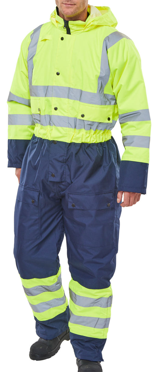 Two Tone Thermal Hi-Vis Waterproof Coverall BD900SYN
