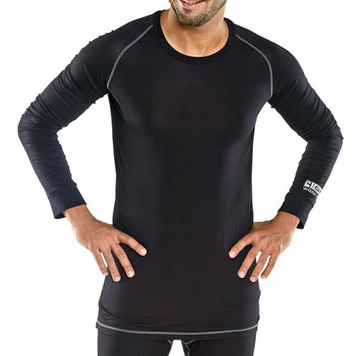 Base Layer Long Sleeve Vest Black BLV
