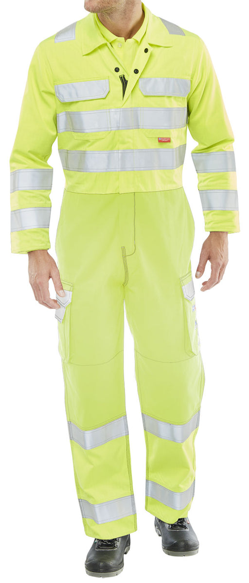 Hi-Vis Coverall Yellow CARC7SY