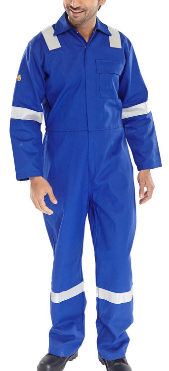 Fire Retardant Nordic Design Boiler Suit Royal Blue CFRBSNDR