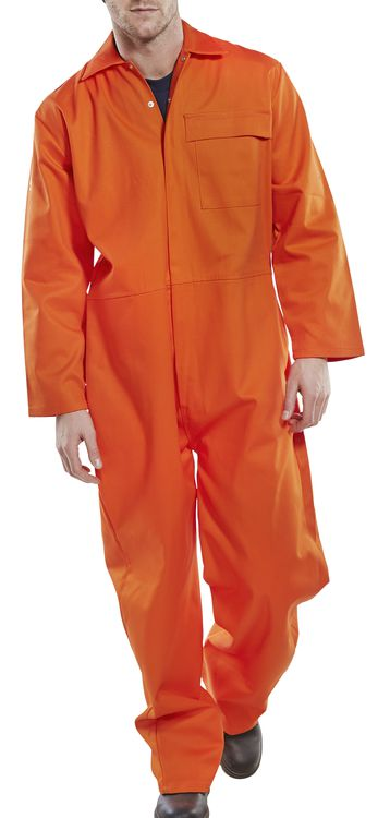 Fire Retardant Boiler Suit Orange CFRBSOR