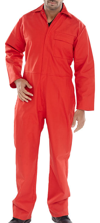 Fire Retardant Boiler Suit Red CFRBSRE