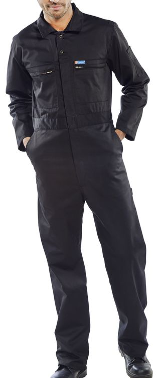 Super Click Boiler Suit Black PCBSHWBL