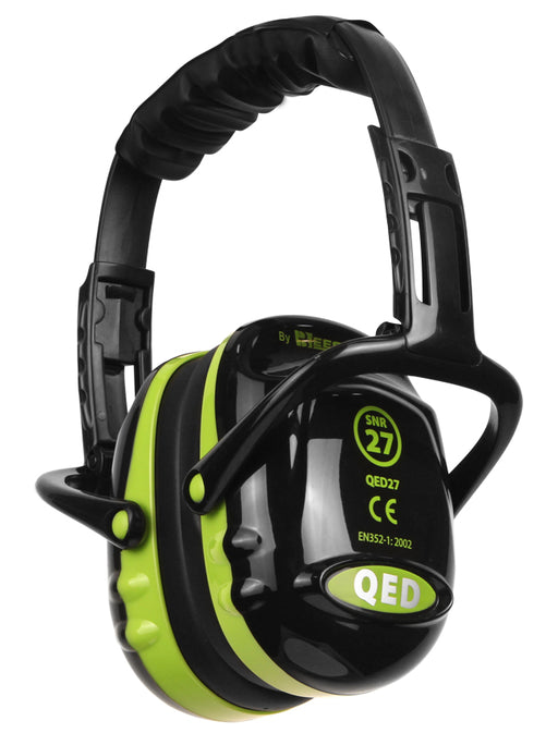 QED Ear Defenders Black/Green QED27