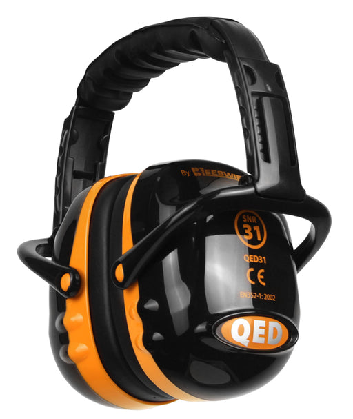 QED Ear Defenders Black/Orange QED31