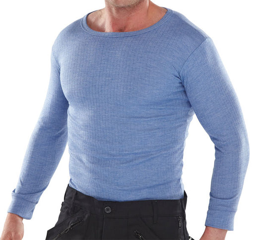 Thermal Vest Long Sleeve Blue THVLS