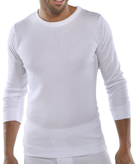 Thermal Vest Long Sleeve White THVLSW