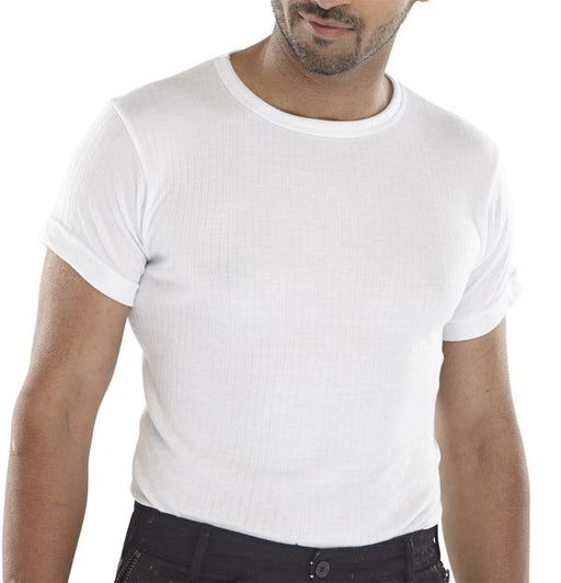 Thermal Vest Short Sleeve White THVSSW